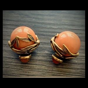 VTG CHRISTIAN DIOR CORAL MISE EN TRIBALS EARRINGS